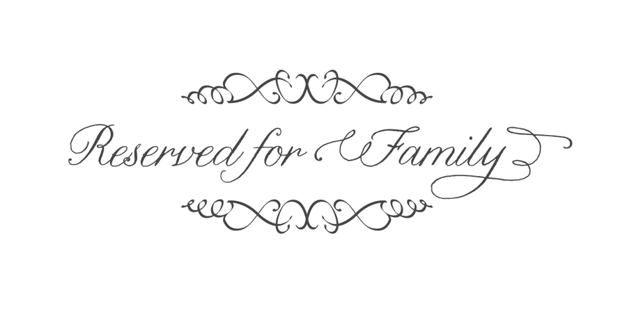 DIY free Wedding Download- Reserved for Family signs | Louisville ...