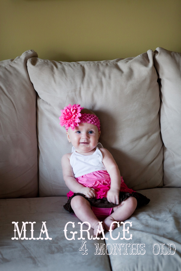 Mia: 4 months old | Louisville KY Photography :: J Grace