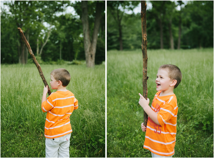 xander with stick Goodlow Family